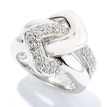 126-457 - Sonia Bitton for Brilliante® Round Pave Set Interlocking Ring