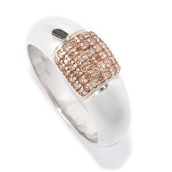 126-469 - Diamond Treasures Sterling Silver 0.20ctw Pave Diamond Band Ring