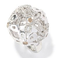 SS FLOWER DOME RING
