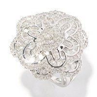SS 1.5CTW DIAMOND FLOWER RING