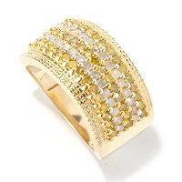 14K YG 1CTW YELLOW AND WHITE DIAMOND RING