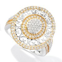 SS .75CTW WHITE DIAMOND OVAL RING