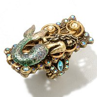 GOLDTONE SEA LIFE RING