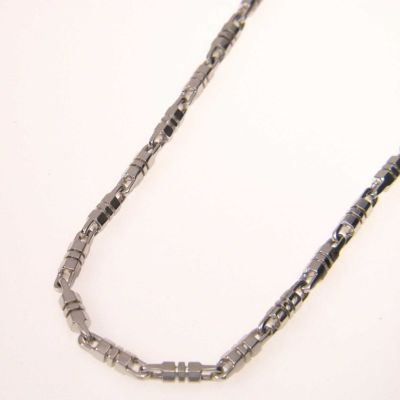 "126-554 - Men's 22"" Sterling Silver 4mm Barrel and Link Necklace"