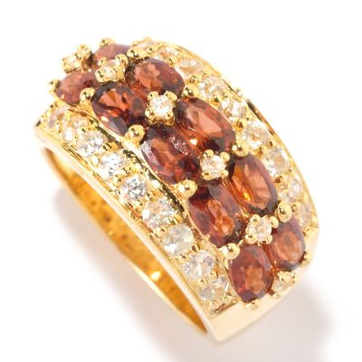 126-557 - NYC II 4.84ctw Mocha & White Zircon Band Ring