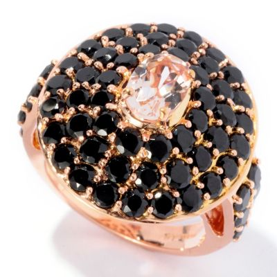 126-562 - NYC II 4.96ctw Morganite & Black Spinel Ring