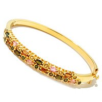 SS/P BRAC MULTI-TOURMALINE HINGED BANGLE