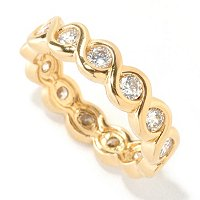 DESORO SS/18K GP ROUND CUT TWIST RING