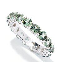 BLTA SS/PLAT ROUND CUT SHARED PRONG SIMULATED COLORS OF DIAMONDS ETERNITY RING