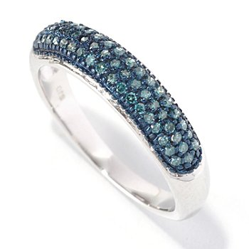 126-630 - Diamond Treasures Sterling Silver 0.25ctw Diamond Stack Ring