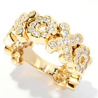 SB SS/CHOICE ROUND CUT DREAM FIT XOXO RING