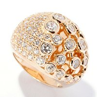 SB SS/CHOICE PAVE AND BEZEL SET DOME RING