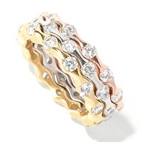 SB SS/CHOICE SET OF THREE TENSION SET ETERNITY BAND RINGS
