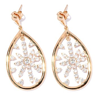 126-692 - Sonia Bitton for Brilliante® Gold Embraced™ 2.74 DEW Star Teardrop Earrings