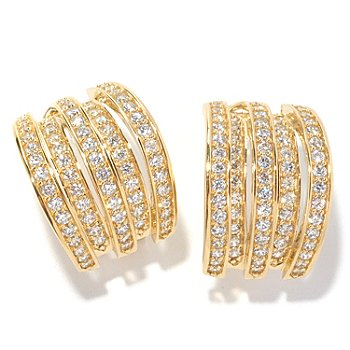 126-695 - Sonia Bitton for Brilliante® 2.32 DEW Multi-Level Earrings