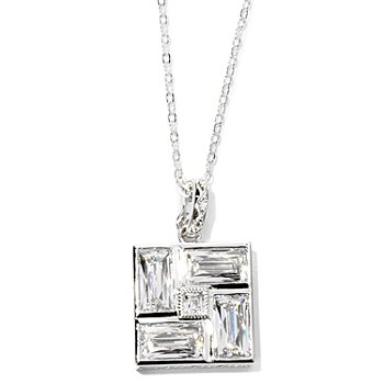 126-717 - TYCOON for Brilliante® Platinum Embraced™ 9.16 DEW Square Pendant w/ Chain