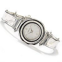 STERLING SILVER HAMMERED DETAIL WATCH