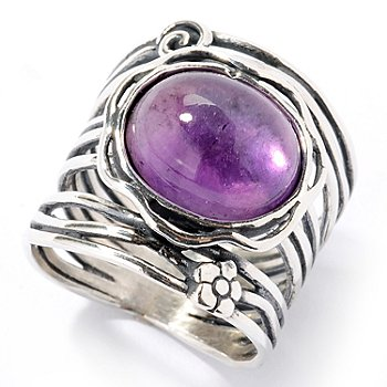 126-742 - Passage to Israel Sterling Silver Gemstone Choice Oval Ring
