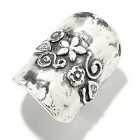 SS ELONGATED FLOWER RING