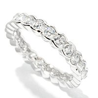 BLTA SS/CHOICE ROUND CUT SEMI-BEZEL ETERNITY BAND RING