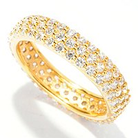 BLTA SS/CHOICE THREE ROW PAVE ETERNITY BAND RING