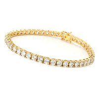 BELITA SS/CHOICE 100 FACET TENNIS BRACELET