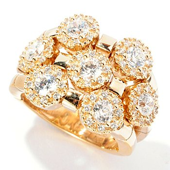 126-779 - Sonia Bitton for Brilliante® 1.85 DEW Round Cut Three-Row Dream Fit Ring