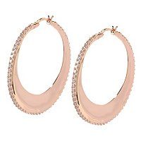 SB SS/CHOICE ROUND CUT HIGH POLISHED HOOP EARRINGS