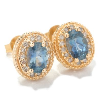 126-821 - The Vault from Gems en Vogue II 14K Gold 1.46ctw Sapphire & Diamond Earrings