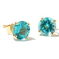 14K APATITE CHOICE OF COLOR STUD EARRING