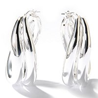 SEMPRESILVER POLISHED HOOP EARRINGS