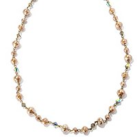 "GOLDTONE 50""BAROQUE STYLE COCO FAUX PEARL NECKLACE"