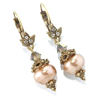 126-881 - Sweet Romance™ Gold-tone Baroque Inspired Drop Earrings