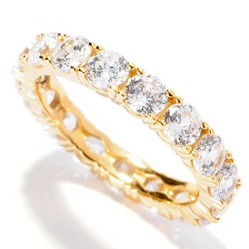 126-912 - Brilliante® 2.89 DEW 100-Facet Round Prong Set Eternity Band Ring
