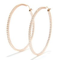 BLTA SS/CHOICE 2 INCH INSIDE OUT HOOP EARRINGS
