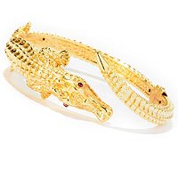 IJD 14K ORO VITA ELECTROFORM CROCODILE BANGLE