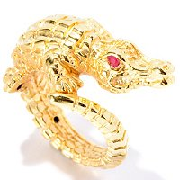IJD 14K ORO VITA ELECTRFORM CROCODILE RING