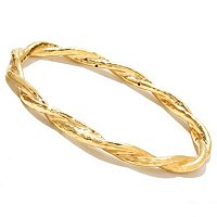 IJD 14K ORO VITA ELECTROFORM FIOCCO BANGLE