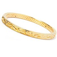 IJD 14K ORO VITA ELECTROFORM CESELLO BANGLE