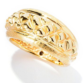 126-924 - Italian Designs with Stefano 14K ''Oro Vita'' Electroform Piramidi Ring
