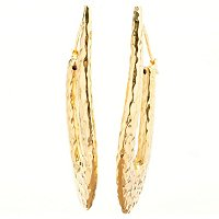 IJD 14K ORO VITA ELECTRFORM ETRUSCA DROP POST EARRINGS