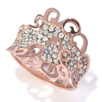126-967 - EFFY 14K Rose Gold 0.62ctw Diamond Curlicue Ring