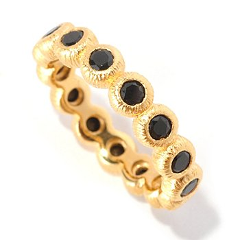 127-060 - Michelle Albala 1.20ctw Black Spinel Brushed Eternity Band Ring