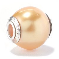 SS 12-13mm GOLDEN SOUTH SEA PEARL CHARM