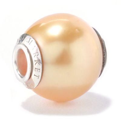 127-071 - Sterling Silver 12-13mm Cultured Pearl Charm