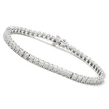 127-084 - Diamond Treasures Sterling Silver 1.00ctw Diamond Bracelet