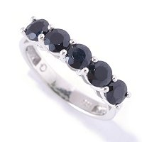 SS 5 STONE BLACK SPINEL RING