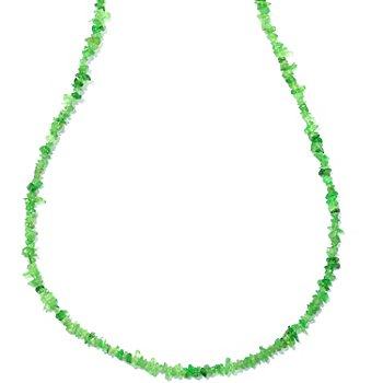 127-136 - Gem Insider Sterling Silver 18'' Tsavorite Chip Necklace