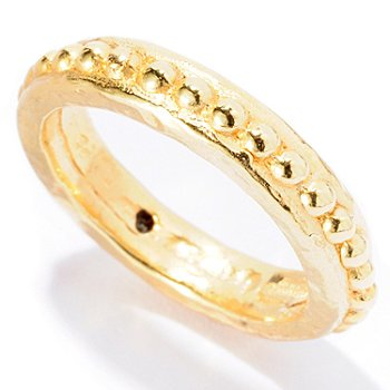 127-143 - Italian Designs with Stefano 14K ''Oro Vita'' Electroform Rosary Ring