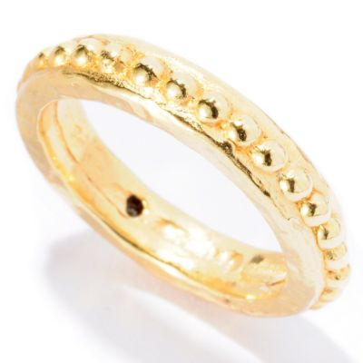 "127-143 - Italian Designs with Stefano 14K ""Oro Vita"" Electroform Rosary Ring"